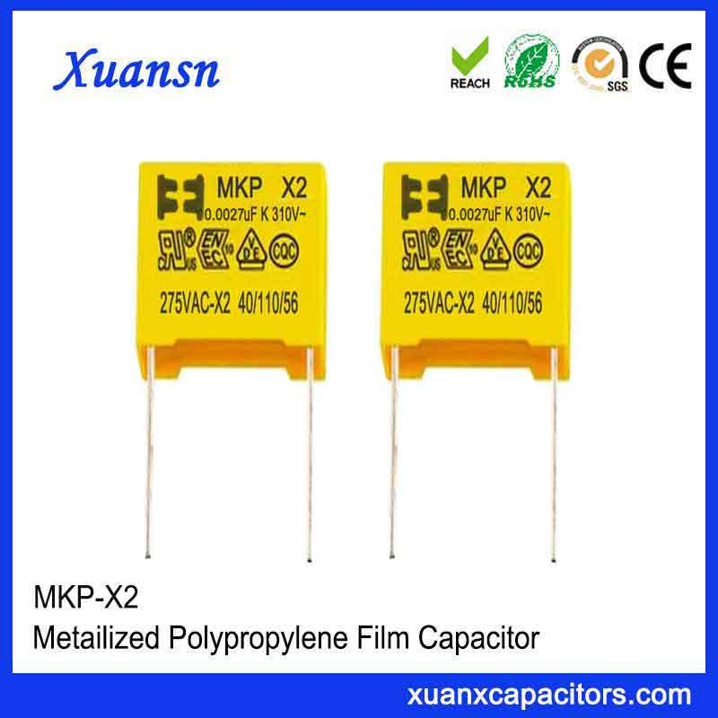 Polypropylene film capacitor X2
