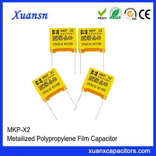 Metal film capacitor x2