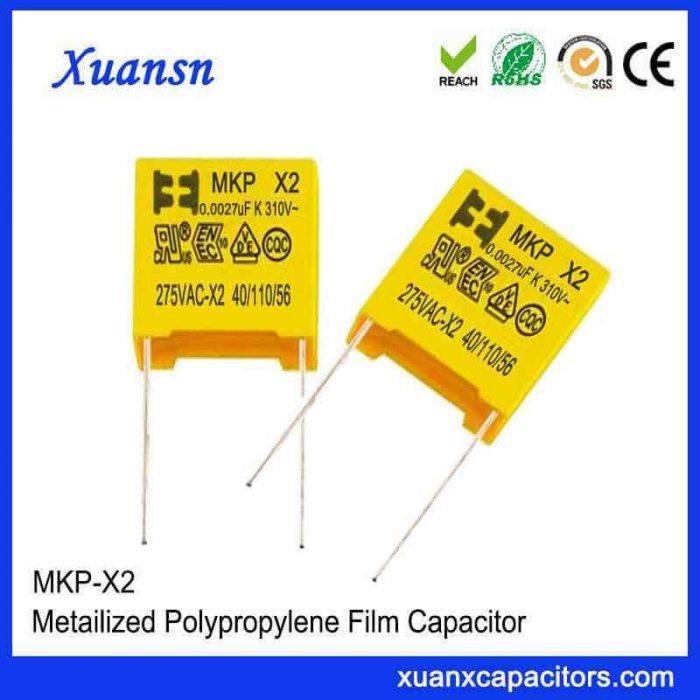 Polypropylene film capacitor X2