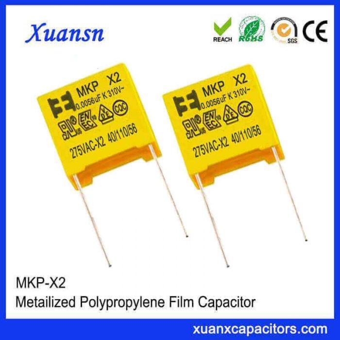 0.0056uf 257vac x2 capacitor