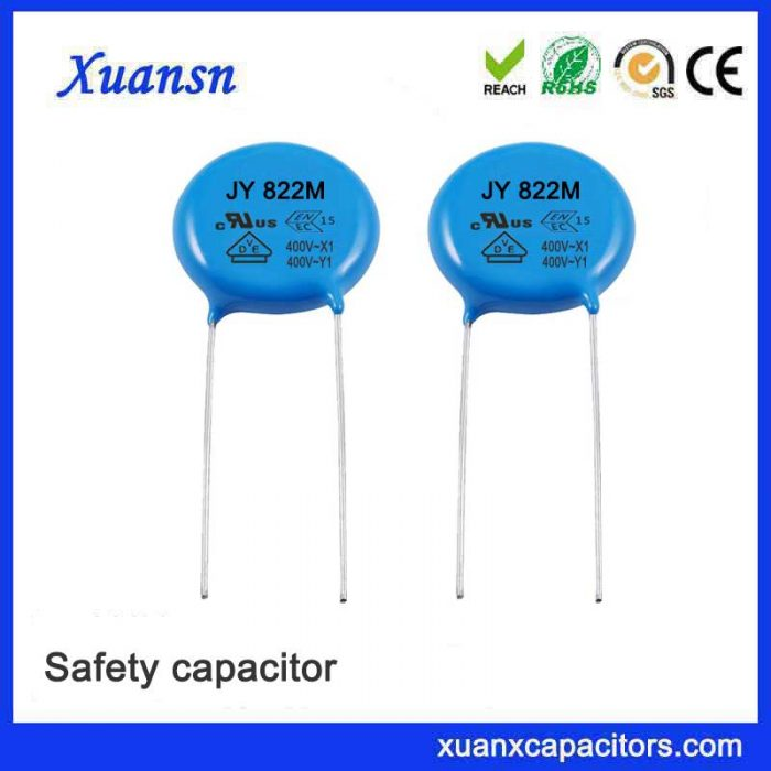 Capacitor Y2 for suppressing electromagnetic interference of power supply