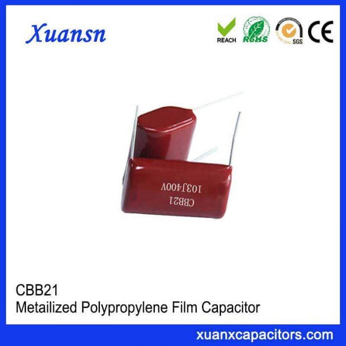High quality CBB21 film capacitor
