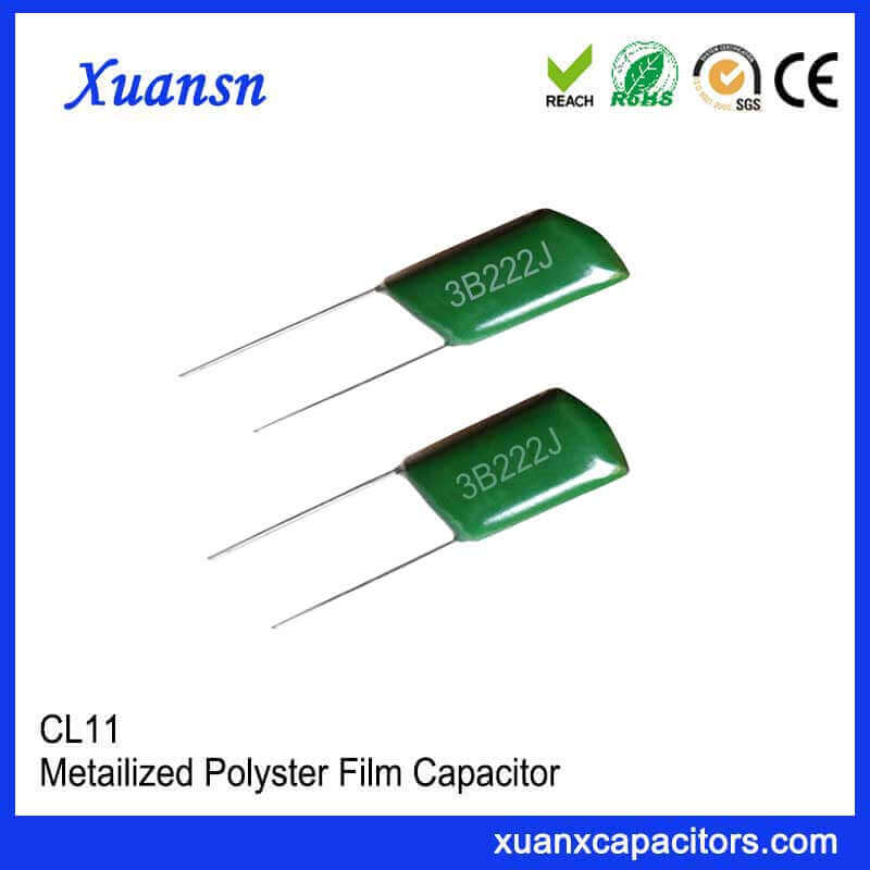 CL11 high voltage polyester capacitor 3B222J