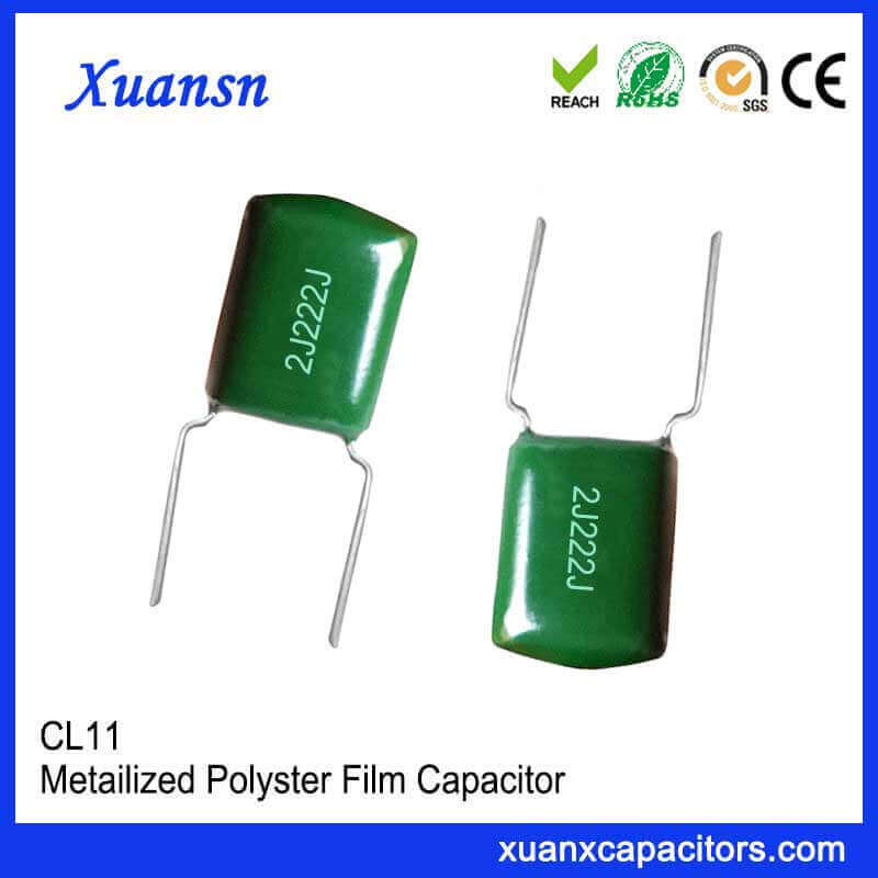 Metallized polyester film capacitor CL11