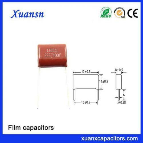 Polypropylene Film capacotor 222j400v