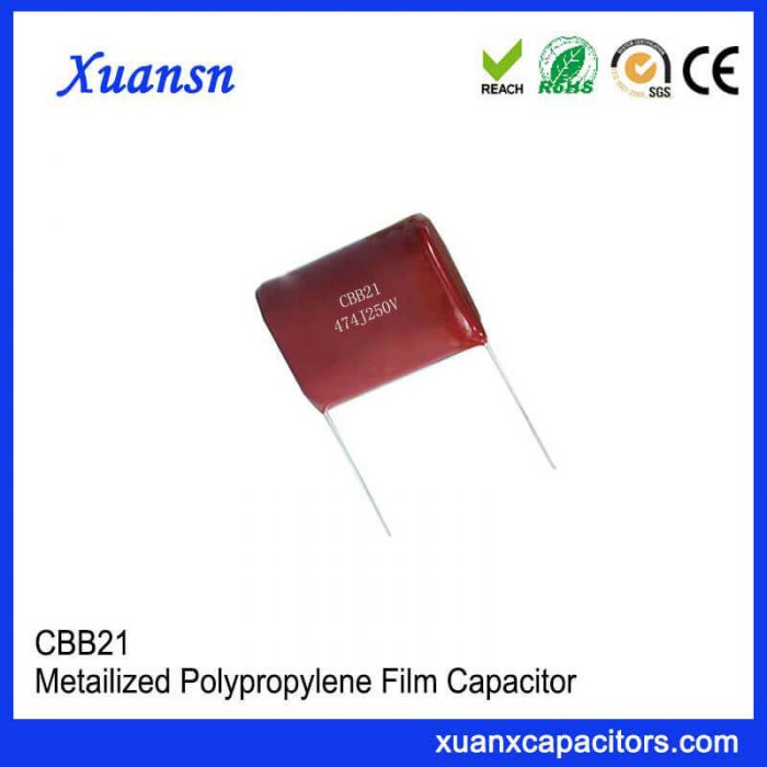 Radial lead CBB21 capacitor