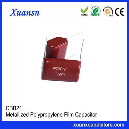 Long life CBB21 capacitor