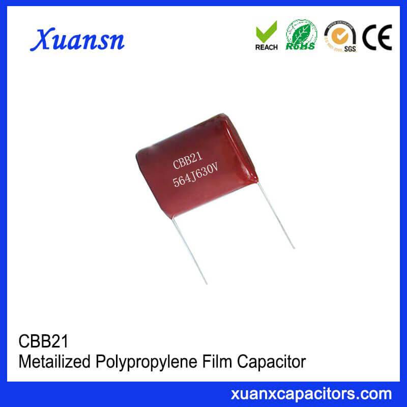 Pitch P=20mm CBB21 capacitor
