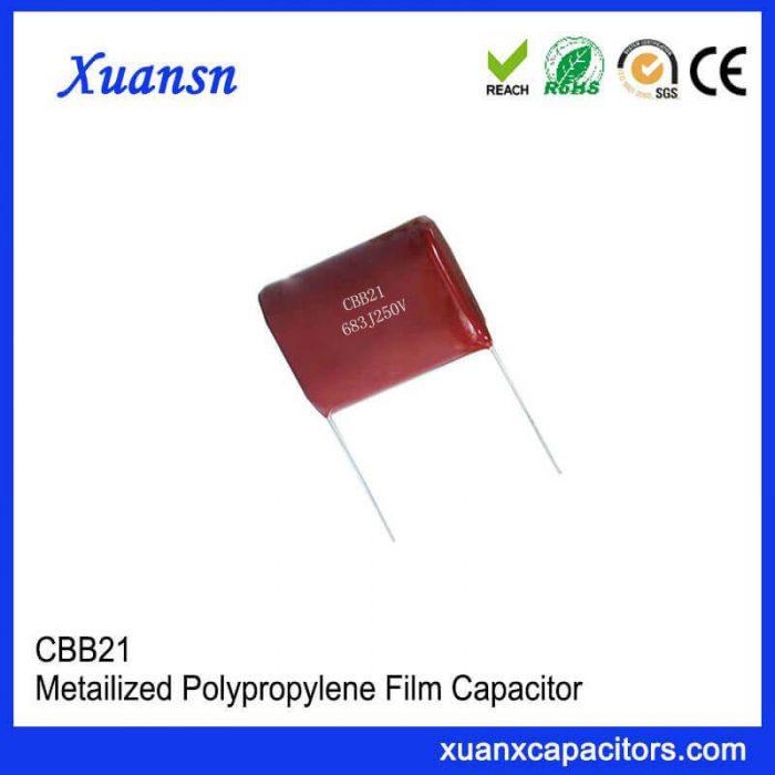 Metallized polypropylene film capacitor CBB21