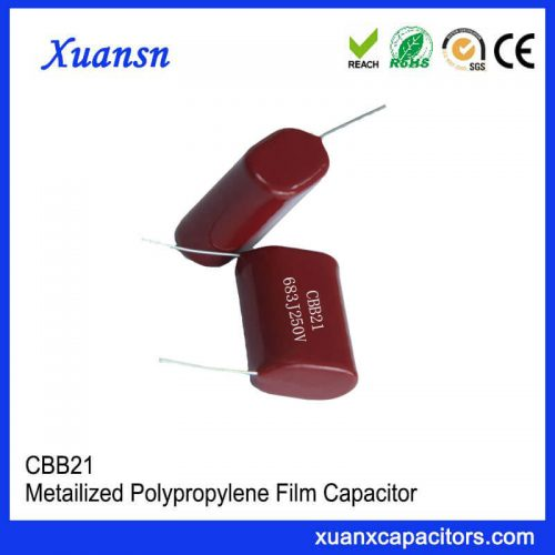 Metallized polypropylene film capacitor CBB21