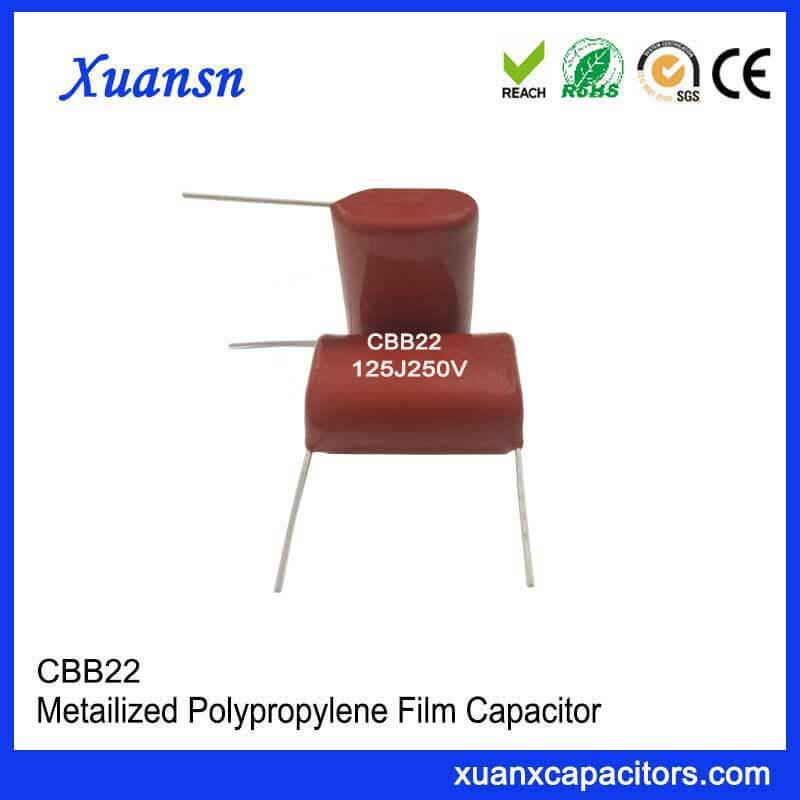 CBB22 capacitor 125J250V