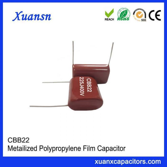 High quality Polypropylene film CBB22 capacitor