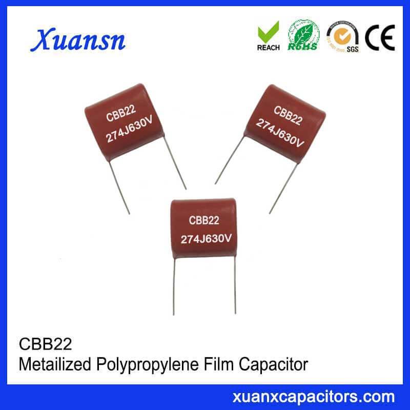 CBB22 metallized film capacitor 274J