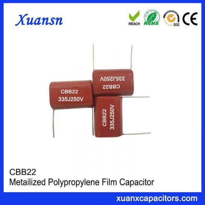 335JCBB22 polypropylene capacitor