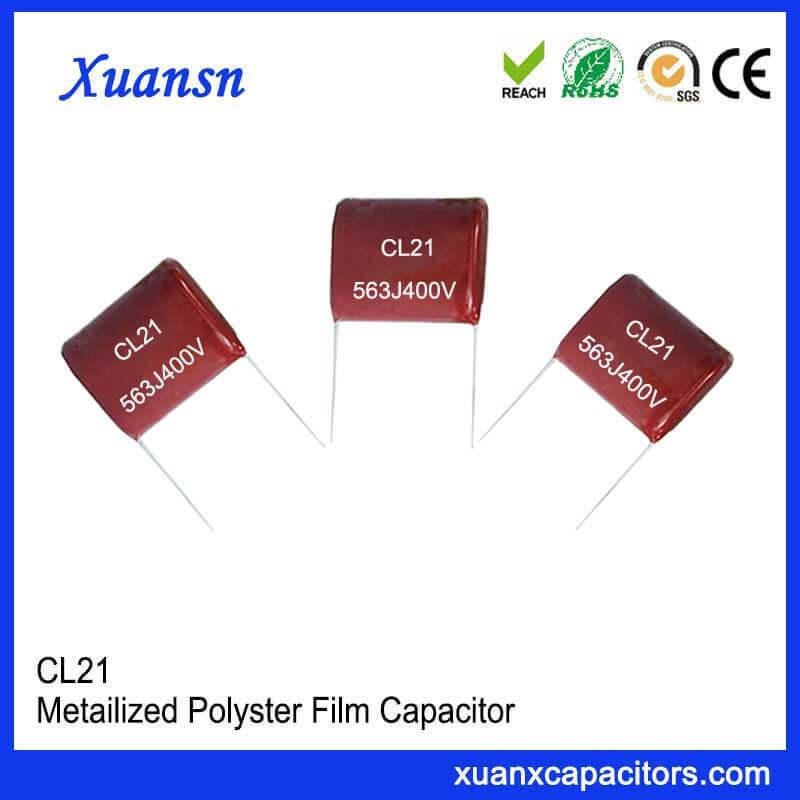 400V CL21 capacitor metallized film capacitor