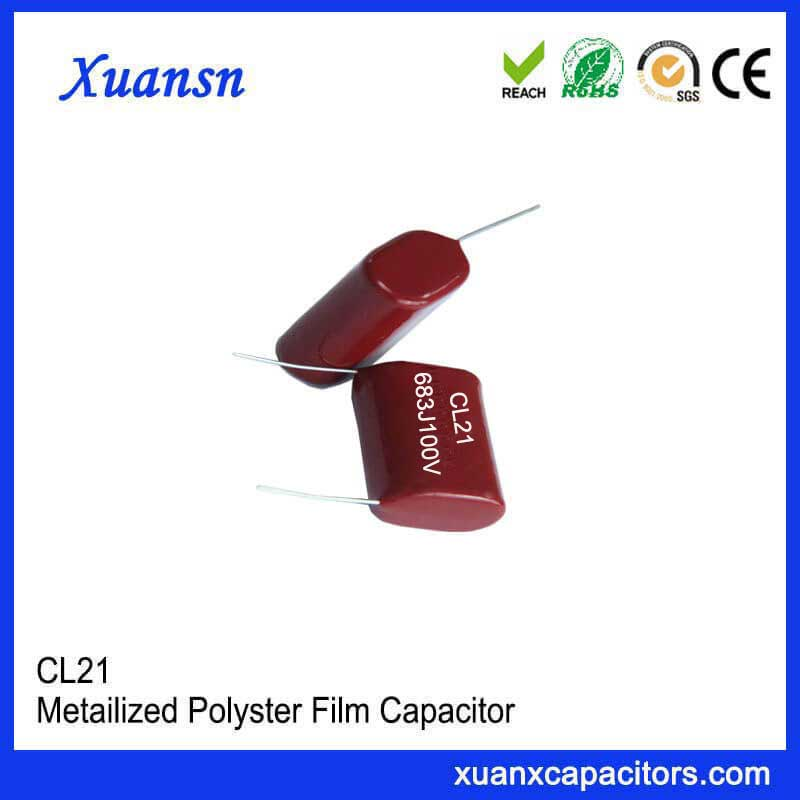 Small metal film capacitor CL21