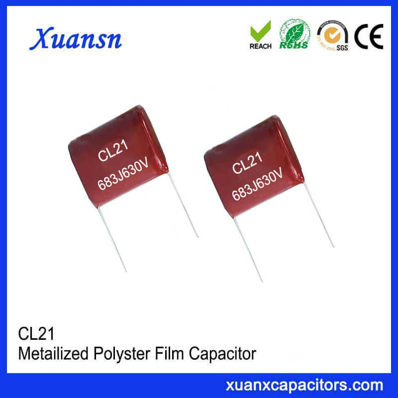 Radial lead CL21 capacitor