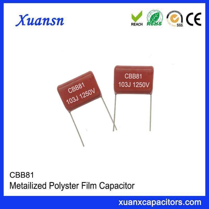 High voltage plug-in capacitor CBB81