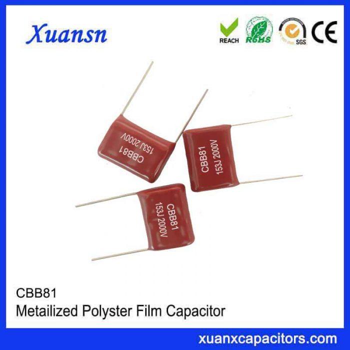 Metallized high current film capacitor CBB81