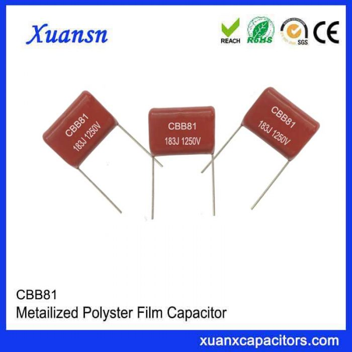Metal film high frequency capacitor CBB81