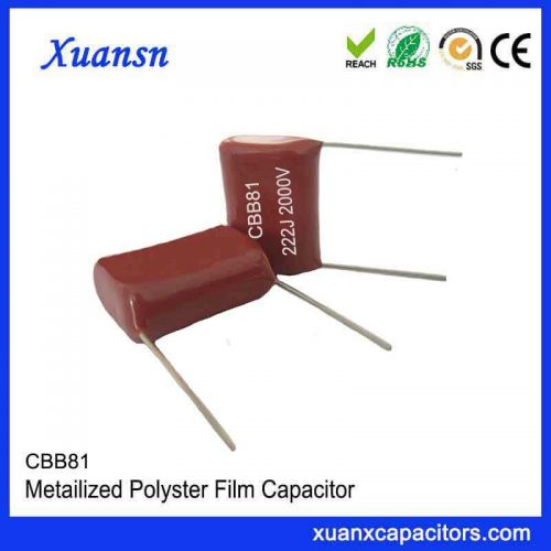 CBB81 High Voltage Metallized Polypropylene Film Capacitor