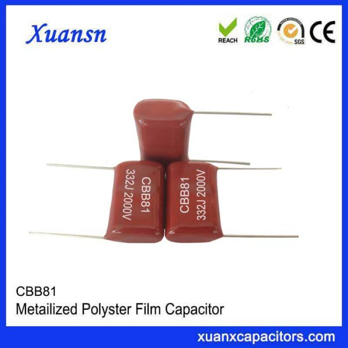 Epoxy encapsulated CBB81 capacitor