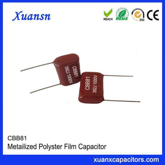 CBB81 metallized polypropylene film capacitor