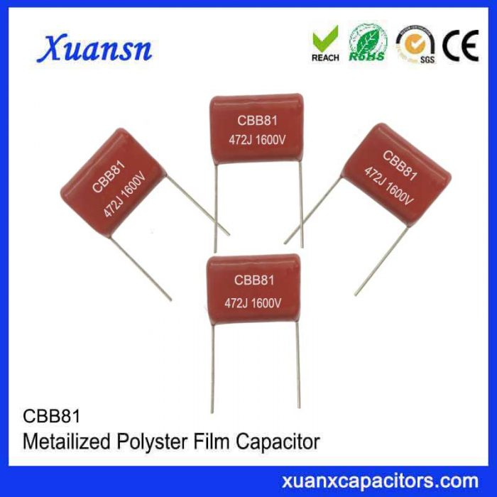 Electric mosquito swatter discharge capacitor CBB81