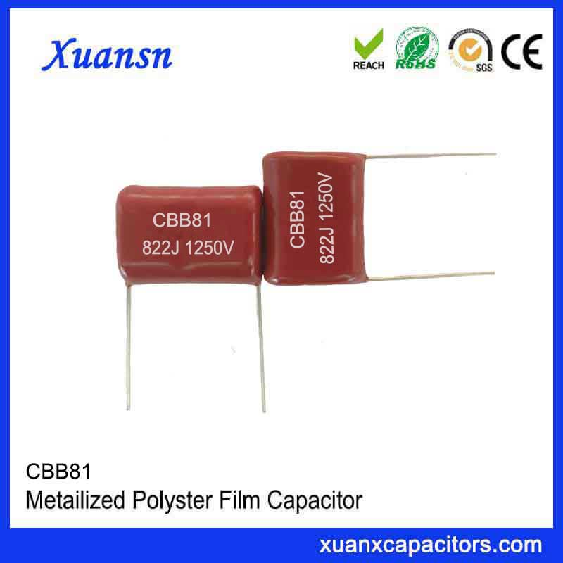 High frequency CBB81 capacitor 822J