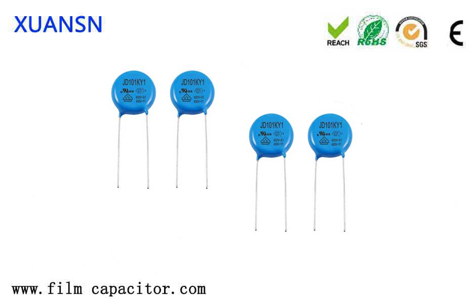 Safety capacitor detection method