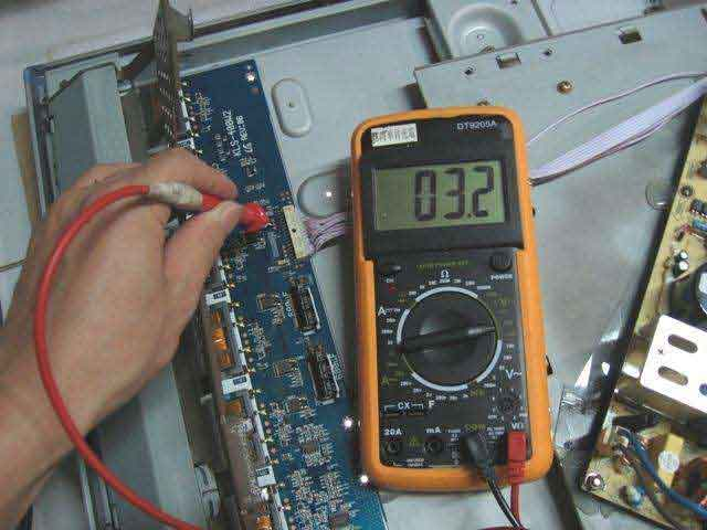 Whether the capacitor is inserted reversely