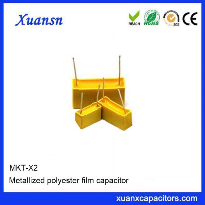 Anti-jamming X2Mkt polyester film capacitor