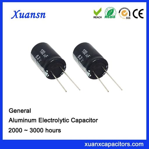 Standard capacitor 100uf6.3v