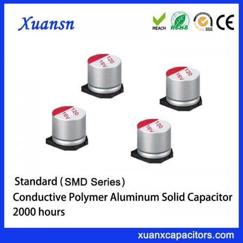 Solid SMD electrolytic capacitor