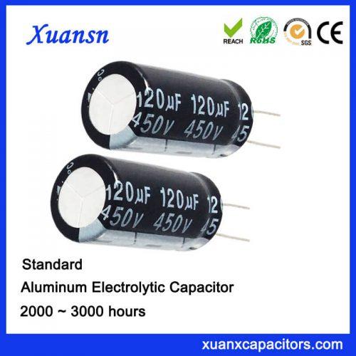 120UF 450V Aluminum Electronic Capacitor