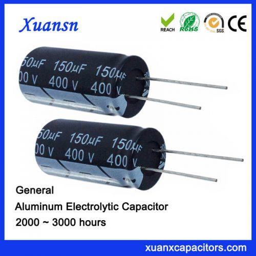150uf 400v electrolytic capacitor