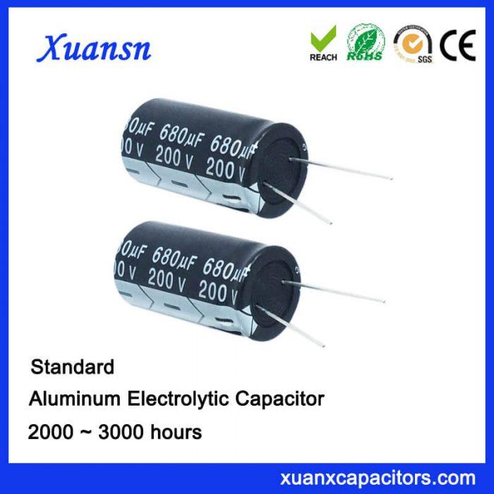 680uf 200v electrolytic capacitor