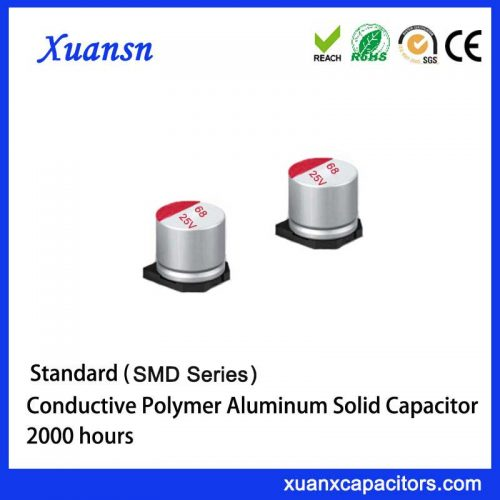 Solid aluminum polymer chip capacitor