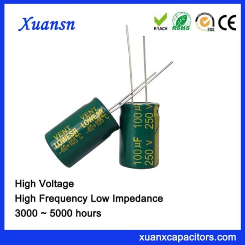 low esr electrolytic capacitors 100uf250v