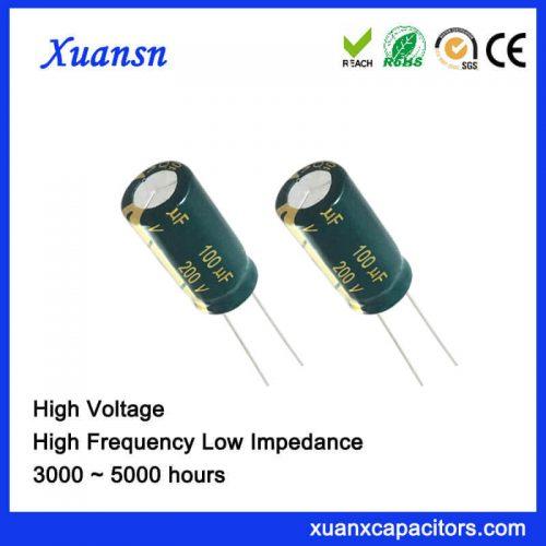 100UF 200V High voltage plugin capacitor