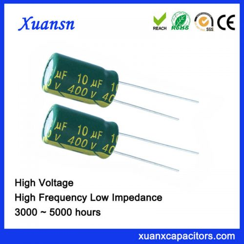 10UF400V High voltage bypass capacitor