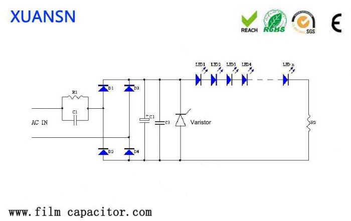 Capacitor step-down