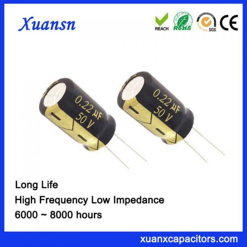 0.22UF 50V Aluminum Electrolytic Capacitor