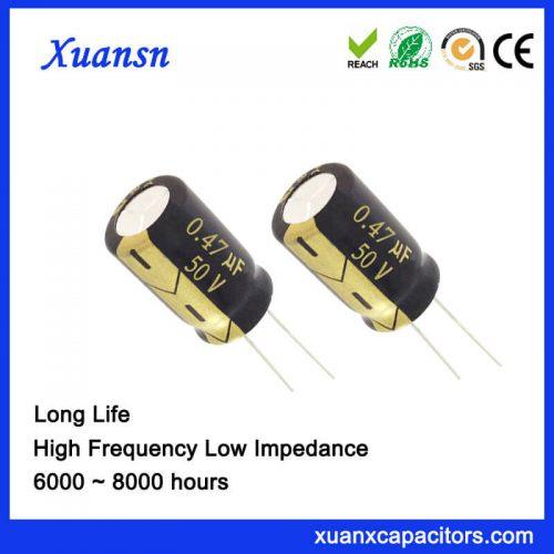 0.47UF 50V Aluminum Electrolytic Capacitor