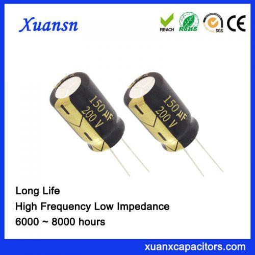 150UF 200V Aluminum Electrolytic Capacitor