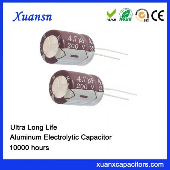 4.7UF 200V 10000hours Electrolytic Capacitor