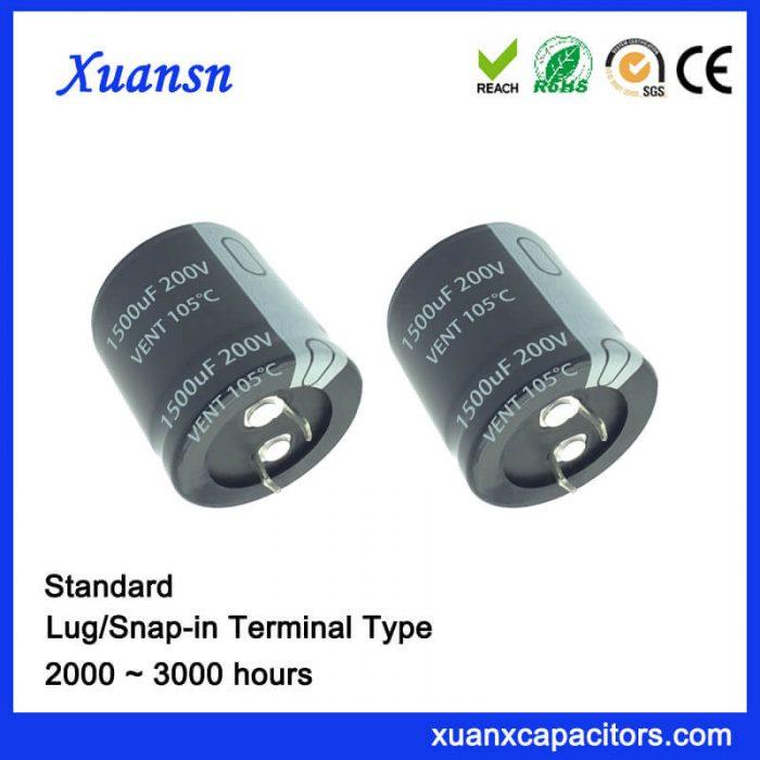 200v 1500uf capacitor