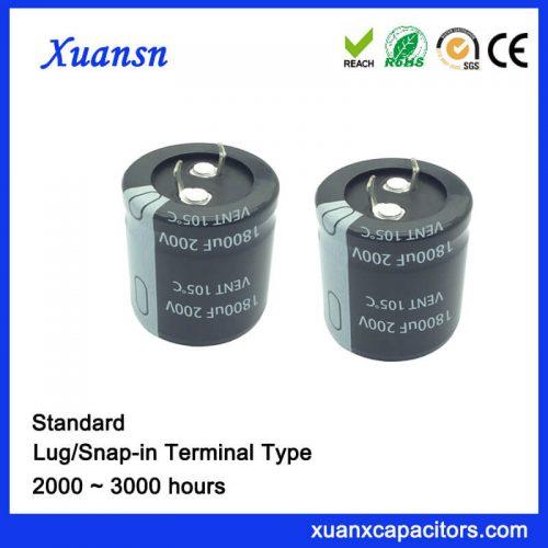 1800UF 200V Standard Snap In Capacitor