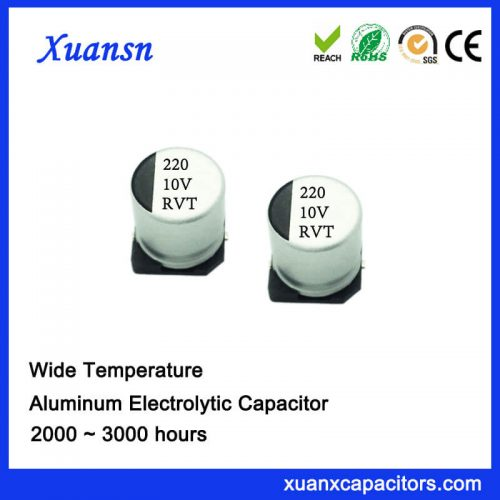 220UF 10V Chip Type Electrolytic Capacitor