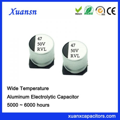 47UF 50V Long Life Chip Aluminum Electrolytic Capacitor